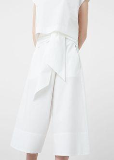 60€ Premium - pantalón popelín nudo - Pantalones de Mujer   MANGO España