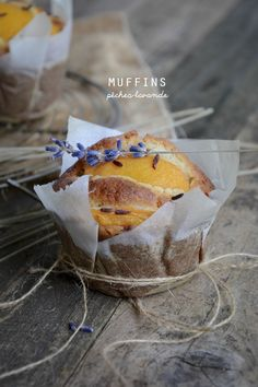 ilovequeencharlotte: Muffins pêches-lavande