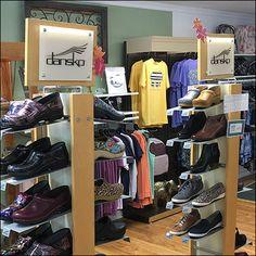 Dansko Branded Shoe Tower Display Store Fixtures, Dansko Shoes, Water Shoes, Shoe Brands, Shoe Rack, Tower, Display, Outfits, Design