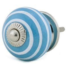 Möbelknopf türkisblau/weiss Durchmesser 3,8/4cm Machen Sie Ihre Welt ein wenig bunter !!! Peppen Sie Ihre langweiligen Kommoden und Schränke mit unseren farbenfrohen Möbelknöpfen...