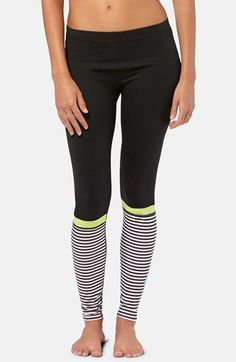 Roxy 'Neon Tide' Surf Leggings available at #Nordstrom