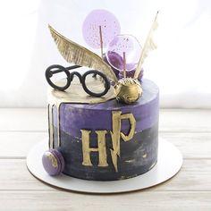 Harry Potter Birthday Cake, Harry Potter Theme, Garri Potter, 10th Birthday Parties, Cute Cakes, Cake Art, Beautiful Cakes, No Bake Cake, Party Planning