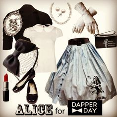 Look for #DapperDay #Disneybound Alice!