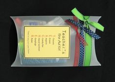 Teachers first aid kit - I will do this as teacher gifts for back to school next fall. :)