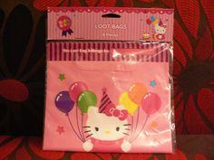 Hello Kitty Birthday Party Loot Favor Bags  8 Count #DesignWare #BirthdayChild