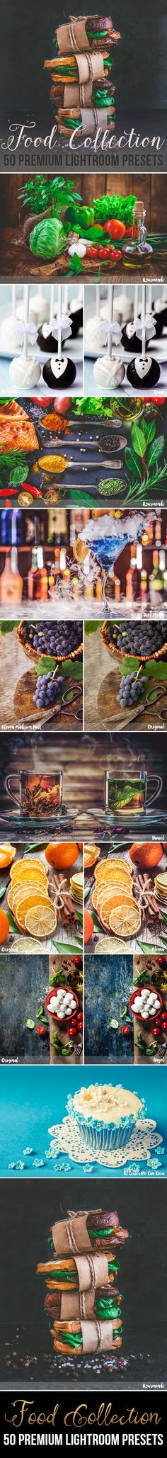 50 Premium Food Photography Lightroom Presets - Lightroom Presets Add-ons