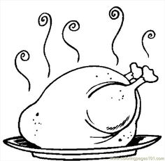 Coloring Pages Draw A Thanksgiving Turkey for cooked fish colouring pages page 2