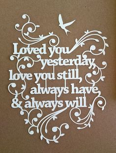 Papercut design - very simple design that is beautiful done!                                                                                                                                                                                 More