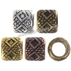 Zinc Alloy Large Hole Beads,Plated,Cadmium And Lead Free,Various Color For Choice,Approx 7x6mm,Hole:Approx 4mm,Sold By Bags,No 002503