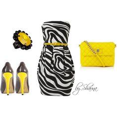 *Black And White Zebra Print Belted Dress: 21 [janenorman.co.uk] *Deric Granite Lemon: 50 [vincecamuto.com] *Erickson Beamon Fluoro Pop Swarovski crystal ring: 53 [net-a-porter.com] *Total: $124