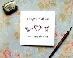 Congratulations on tying the knot wedding by BEEautifulcreatures