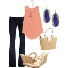 Love the sandals and bag