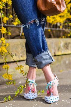 Thank Fifi wears Boden Alice Heels. April 2015.