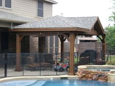 Patio Cover...Hip With Gable, Post Brackets And 8x8 Posts