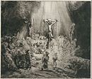 The Three Crosses, etching by Rembrandt,