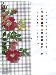 vase with red flowers_rf 123 Cross Stitch, Cross Stitch Flowers, Cross Stitch Charts, Cross Stitch Designs, Cross Stitch Patterns, Cross Stitching, Cross Stitch Embroidery, Cross Stitch Geometric, Needle And Thread