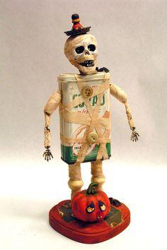 Halloween Assemblage Art Doll Mummy Zombie Zeke.  via Etsy.