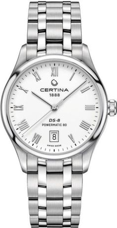 Certina Watch DS 8 Powermatic 80 Watch available to buy online from with free UK delivery. Rolex Watches, Watches For Men, Baselworld 2017, Oyster Perpetual Datejust, Swiss Made Watches, Mechanical Watch, Silver Diamonds, Luxury Branding, Bracelet Watch