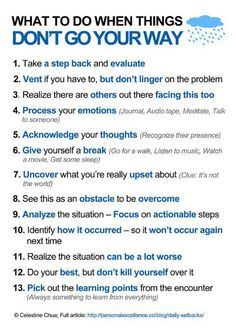 Psychological things to do when things don't go our way