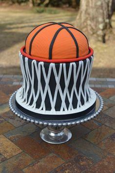 Basketball and Net Cake