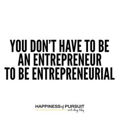 "You don't have to be an entrepreneur. To be entrepreneurial. - @jaysamit  #entrepreneurship #hustle #motivation #instadaily #instaquote . The reason most people don't start their own business is the fear of failure is simply too great - that doesn't mean they can't think like an entrepreneur within their own career. . @jaysamit literally wrote the book on the subject called ""Disrupt You."" . At multiple times he worked within multi-billion dollar businesses to help them change to the new…"