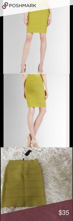 "NWT BCBG ""Alexa"" Power Skirt Brand new BCBG ""Alexa"" power skirt in dill. Size S. Bandage skirt. NO TRADES please BCBGMaxAzria Skirts"
