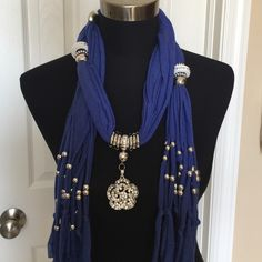 "Jewelry scarf- Royal blue Measures approx 65"". New! Accessories Scarves & Wraps"