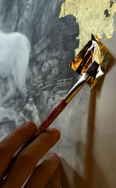 Painting with gold foil would be awesome!