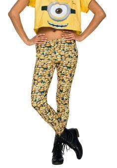 Nice Theme Halloween Costumes: TV / Movie Costumes - Women's Minion Leggings just added. Halloween Costume Accessories, Halloween Costumes For Girls, Girl Costumes, Movie Costumes, Adult Costumes, Costume Ideas, Despicable Me Costume, Minion Costumes, Yellow Leggings