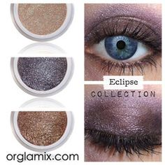 Eclipse Collection $7 Natural Loose Color Concentrate  Imagine how gorgeous you'll feel when you try Orglamix for the first time.  Facebook.com/orglamix #makeup #mua #Peta #cruelty-free #vegan   100% #natural, #eco makeup formulated with mineral power instead of petrochemicals. 250+ #colors in #shimmer, #sparkle, #duochrome, #glitter crafted in small batches + hand packaged with #love  All #orglamix products are available at orglamix.com - Fast + #affordable worldwide shipping Orglamix.com