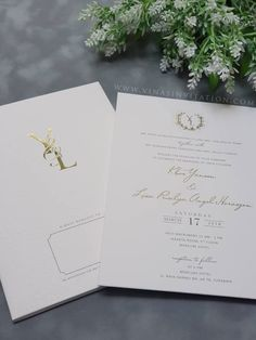 vinas invitation. sydney wedding invitation. indonesia wedding invitation. simple elegant. white simple elegant. simple invitation. any question please visit website www.vinasinvitation.com . courtesy of Yansen & Lisa