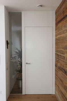 Interior door white with glass element and old wood wall unit - Home Page Built In Storage, Tall Cabinet Storage, West Elm Chandelier, Ikea Pictures, House Entrance, Inspiration Wall, Old Wood, House In The Woods, Door Design