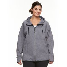 Plus Size Tek Gear® High-Low Fleece Hoodie,