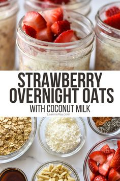 Overnight oats are the best make-ahead breakfast to save time in the morning while still getting a balanced meal. This strawberry coconut version is fresh, summery, and deliciously creamy!