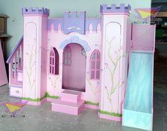 kidsworld.2000@yahoo.com.mx, 01442 690 48 41 Y WATHSAPP 442 323 98 27... PRECIOSO CASTILLO LITERA PARA PRINCESAS #castillo #castillos #literas para niñas #literas #muebles para niñas #recamaras para princesas #princesas #muebles en rosa #lila #recamaras temáticas #bunk bed #bed #muebles infantiles #resbaladilla #cascada