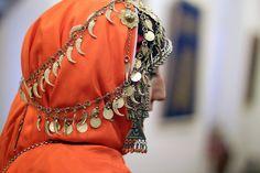 Young Caucasian girl, traditional silver jewelry - Balkhar region, Dagestan, Russian Federation. Author: Imam Guseynov