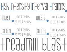 treadmill blast-4miles
