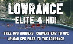 Lowrance Elite 4 HDI - How to Convert KMZ Files to GPX Files & Load [GPS] - In this video I walk you through where to find GPS files for kayaking, hiking or .