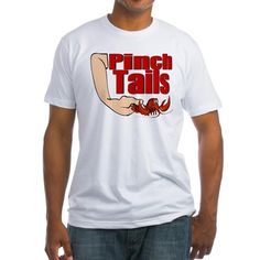 Pinch Tails Fitted T-shirt on CafePress.com