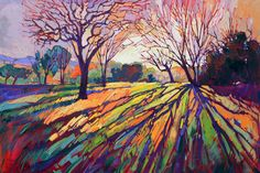 California Color Dramatic Light Impressionism Landscape Ltd Ed Print Giclee by Erin Hanson 30""