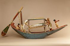 Model boat of Ukhhotep Period: Middle Kingdom Dynasty: Dynasty 12 Date: ca. 1981–1802 B.C. Geography: Probably from Egypt, Middle Egypt, Meir (Mir) Medium: Wood, paint