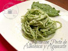 La Lola Dice: Pasta con Pesto de Albahaca y Aguacate