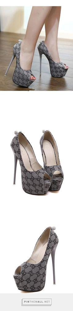 Exquisite sexy platform high slim heel peep toe pumps