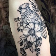 Loose Screw Tattoo (@loosescrewtattoo) • Instagram photos and videos Cardinal Tattoos, Flower Tattoos, Tatting, Tattoo Ideas, Delicate, Artists, Photo And Video, Videos, Unique