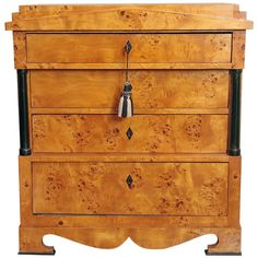 19th Century Biedermeier Chest of Drawers | From a unique collection of antique and modern commodes and chests of drawers at https://www.1stdibs.com/furniture/storage-case-pieces/commodes-chests-of-drawers/