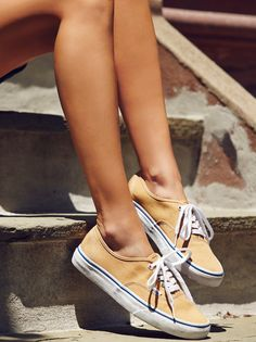 Authentic Lace Up Sneaker | Wear with anything low top lace-up sneaks featured in a classic Vans style. Canvas uppers and metal eyelet details.