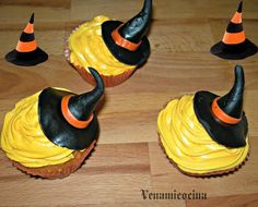 Cupcakes de bruja. Receta de Halloween