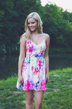 Watercolor Corset Back Dress | UOIOnline.com: Women's Clothing Boutique