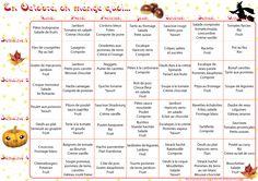 Tu l'attendais avec beaucoup d'impatience, le voici le voilà le planning des menusdu mois d'octobre. Pour le 3ème mois consécutif ma copine Sysy et moi te proposons un tableau de…