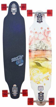Sector 9 Mountain Peaks Longboard Skateboard - Red